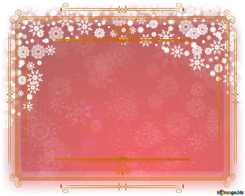 Red Christmas Vintage frame retro clipart №40659