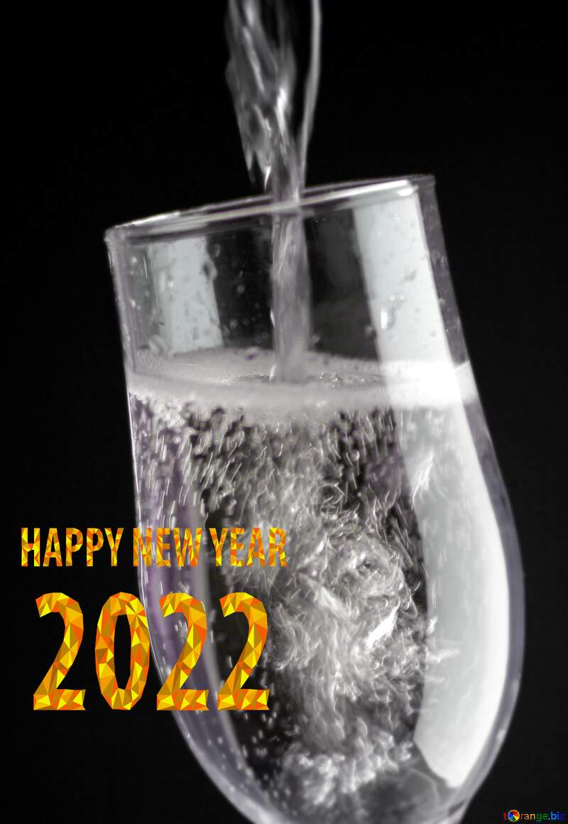 Glamour Champagne happy new year 2021 №25750