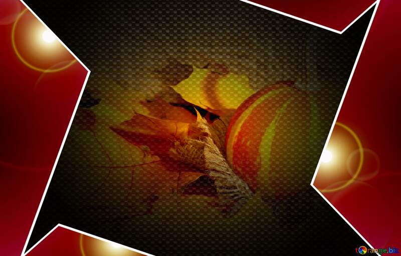 Beautiful picture with pumpkin and autumn leaves hi-tech carbon Red template №35453