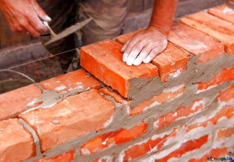 Brick laying blur frame №2880