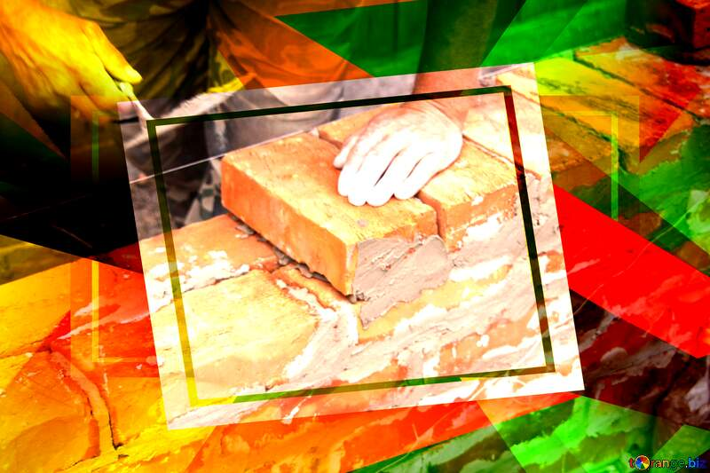 Brick laying creative abstract geometrical template №2880
