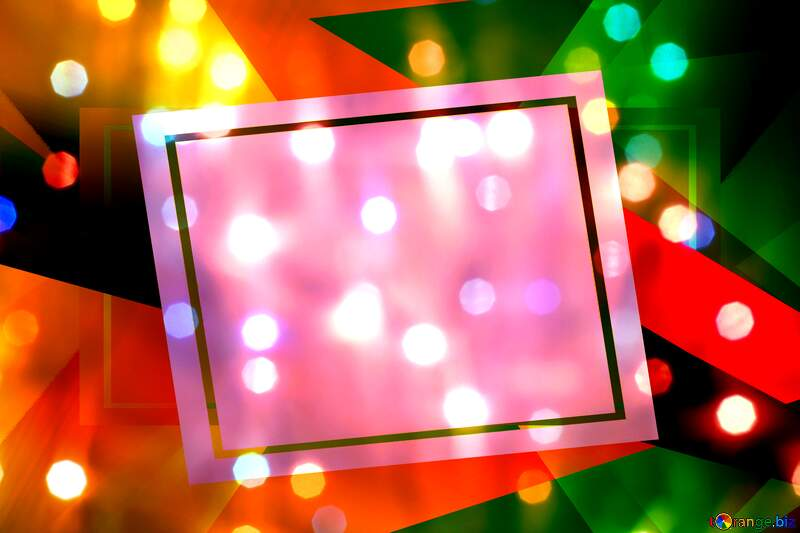 Bright background for Christmas creative abstract geometrical future template frame №24606