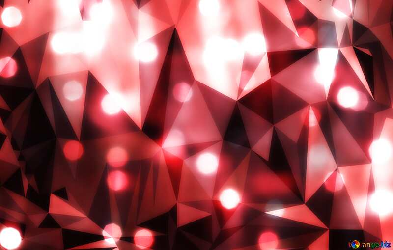 Bright background for Christmas polygonal techno color №24606