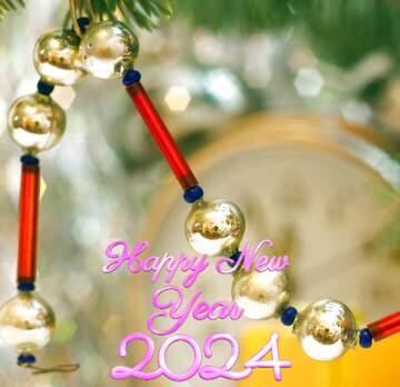 L'effetto della luce. I colori molto vivaci. Frammento. Happy New Year 2020.