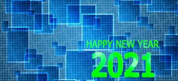 The effect of rotation. Very Vivid Colours. Fragment. Happy New Year 2020.