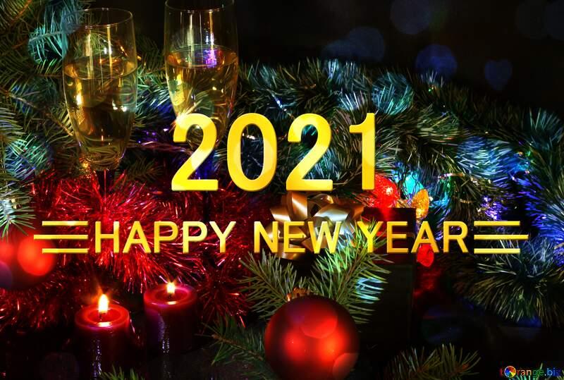 Shiny happy new year 2021 background cheerful holiday №2746
