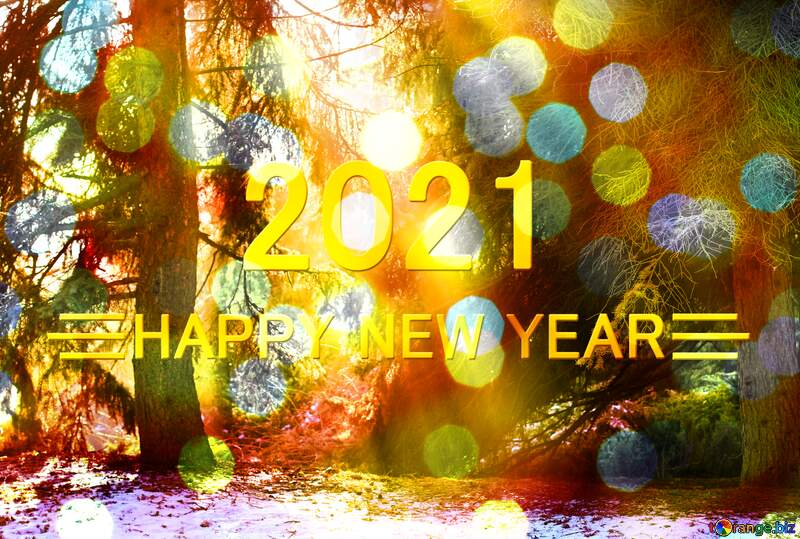 magic winter forest happy new year 2021 Christmas card №51467