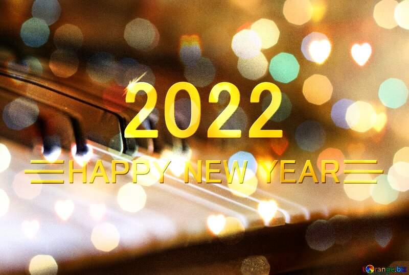 Piano Happy New Year 2022 №4469