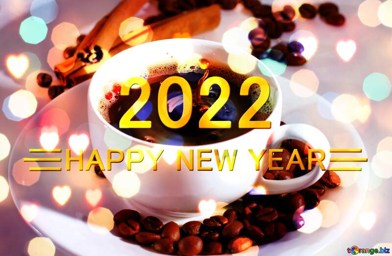 coffee Shiny happy new year 2020 background №30851