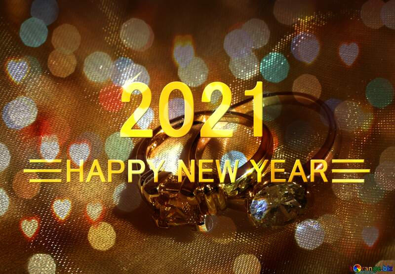 Wedding rings  happy new year 2021 №18236