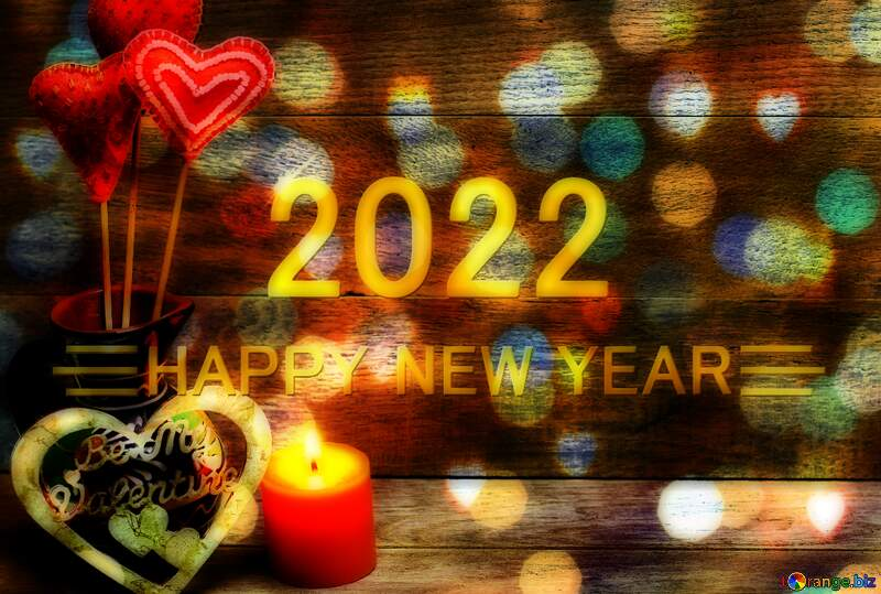 Love Shiny happy new year 2021 gold bokeh background №49216