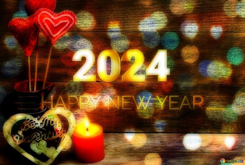 Love Shiny happy new year 2022 gold bokeh background №49216
