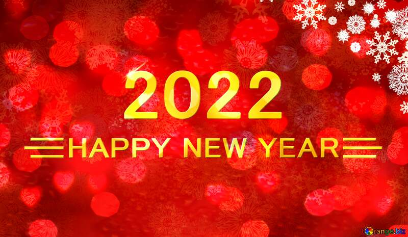 Red Christmas background Shiny happy new year 2021 gold №40659