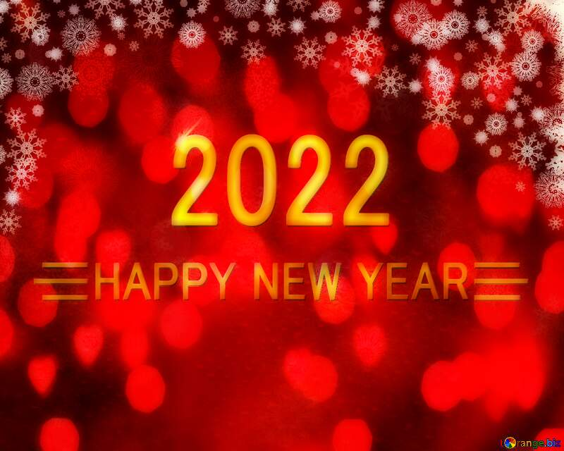 Blurred Red Christmas background happy new year 2021 №40659