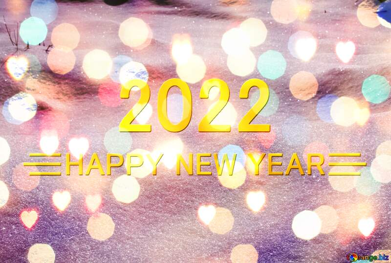 Snow drifts bright lights blue Shiny happy new year 2021 background №833