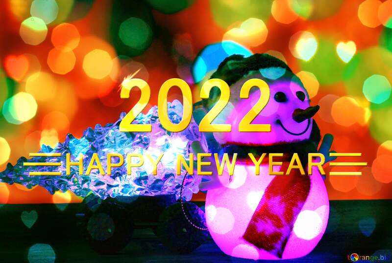 happy year 2021 Christmas snowman background №48110