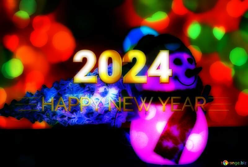 Christmas snowman Shiny happy new year 2021 №48110