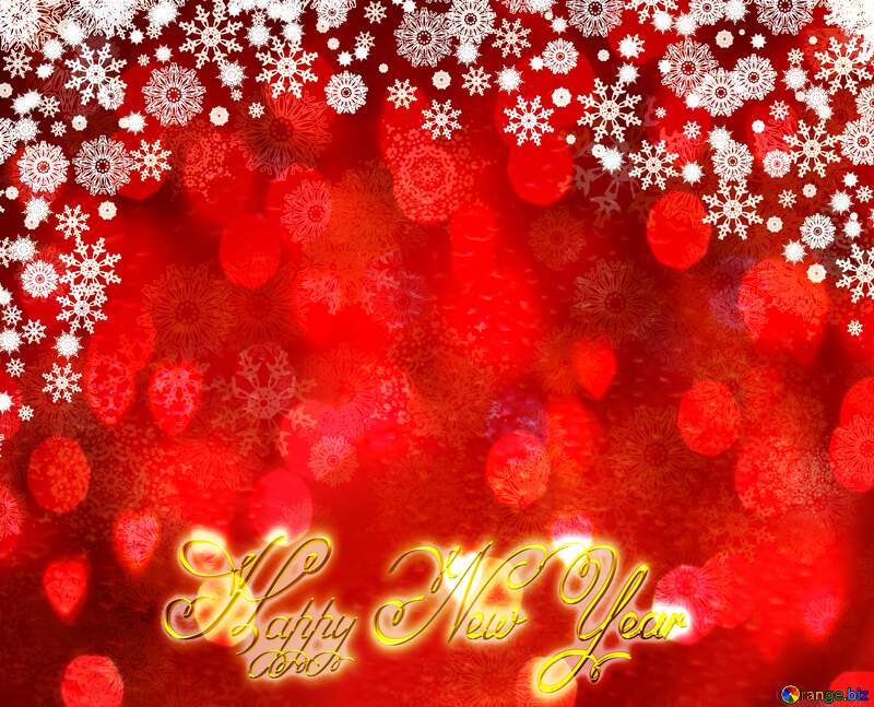 Red Christmas background text Happy New Year №40659