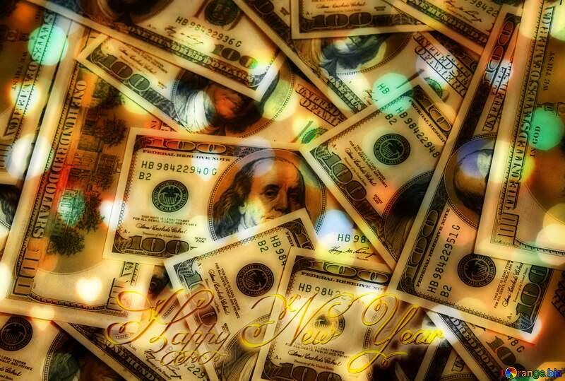 Dollars rich  Happy New Year gold №1507