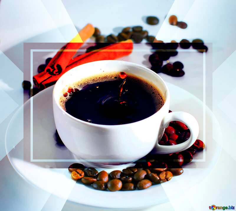Cup of coffee business infographic website template №30851