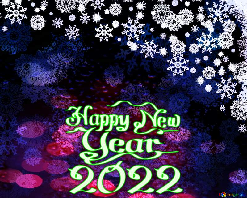 happy new year 2022 Christmas background blue yellow text №40659