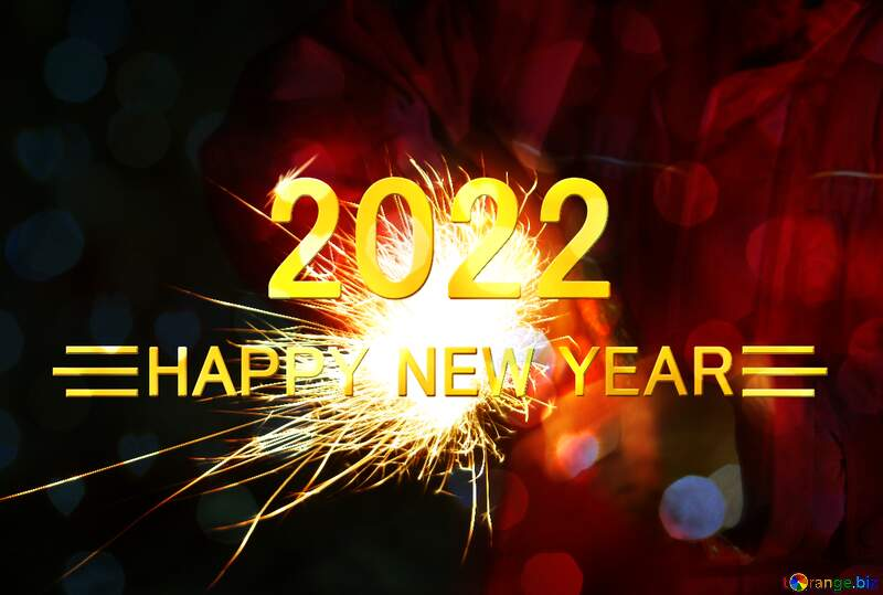 Christmas Fire hands Cheerful Christmas Card Happy New Year 2022 №3930