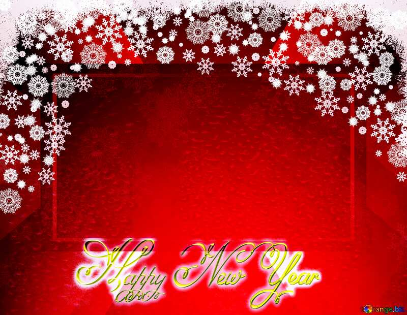 Red Christmas background Happy New Year 3d business banner layout №40659