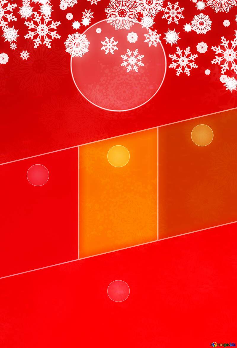 Red Christmas background Hot Business brochure flyer design layout template №40659