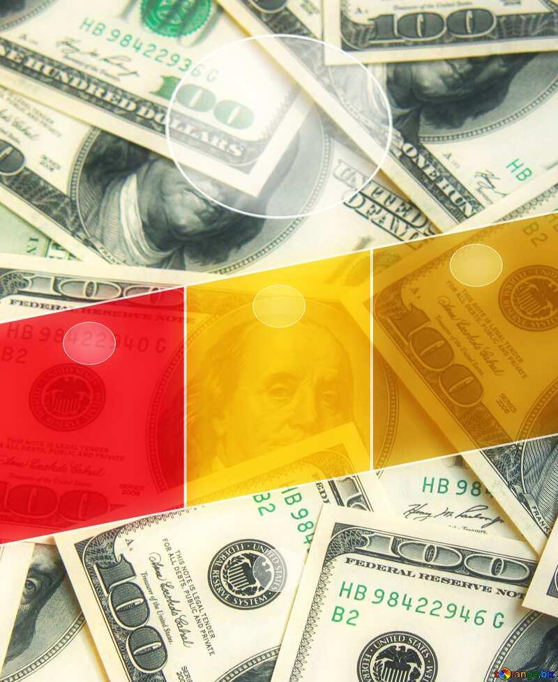 Dollars rich  Business Hot brochure flyer design layout template A4 size №1507
