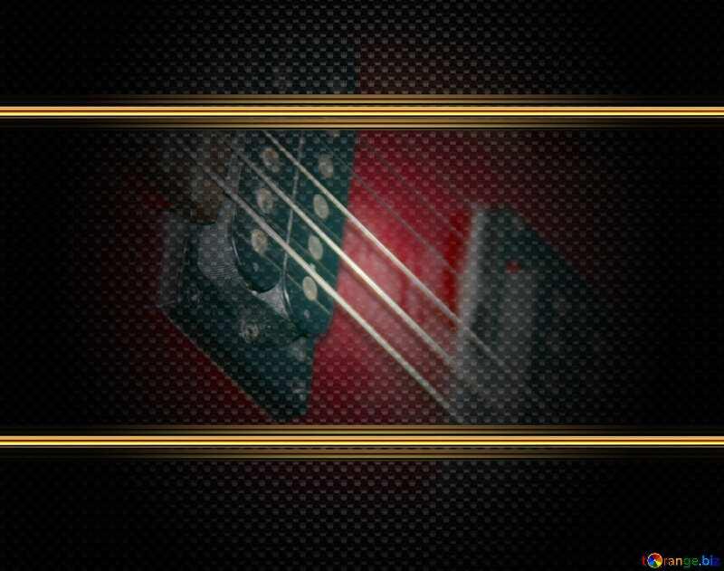 Guitar Musical Instrument  gold frame carbon №8656