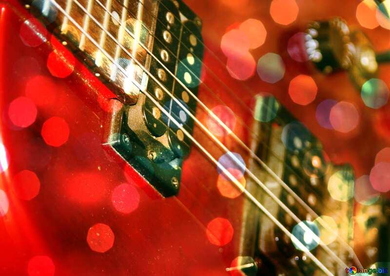 Guitar Christmas background №8656