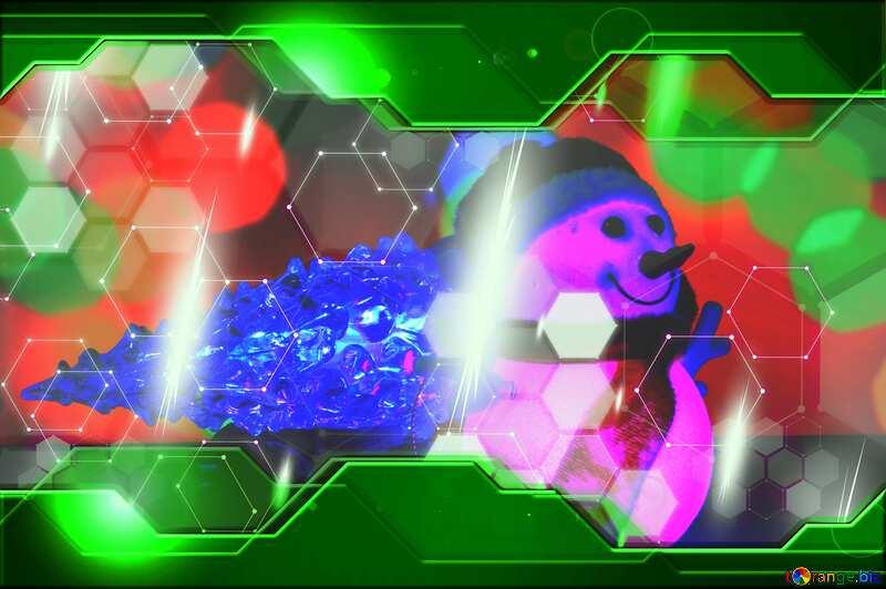 Christmas snowman Hi-tech Green concept business №48110