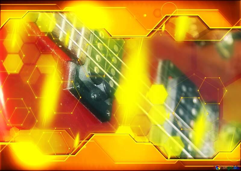 Guitar Gold Information Technology concept Hi-tech №8656