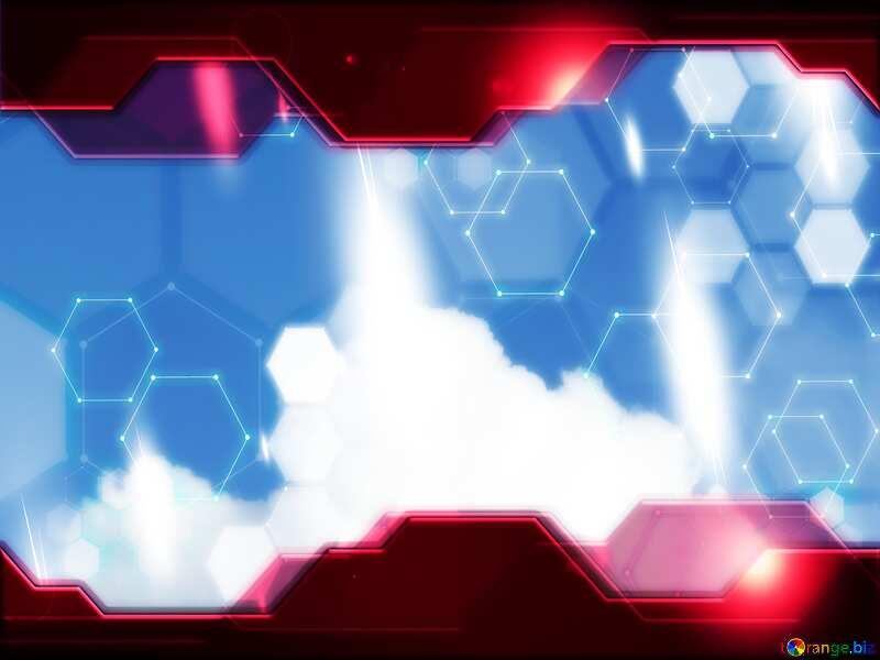 Hi-tech clouds Technology background №31045
