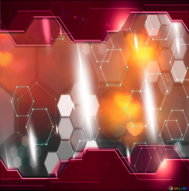 Hi-tech dark background hearts Information Technology Red №37855