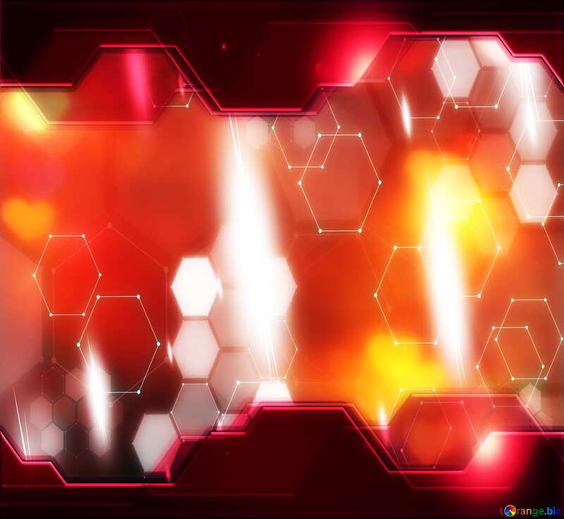 red background card Information Technology business concept №37855