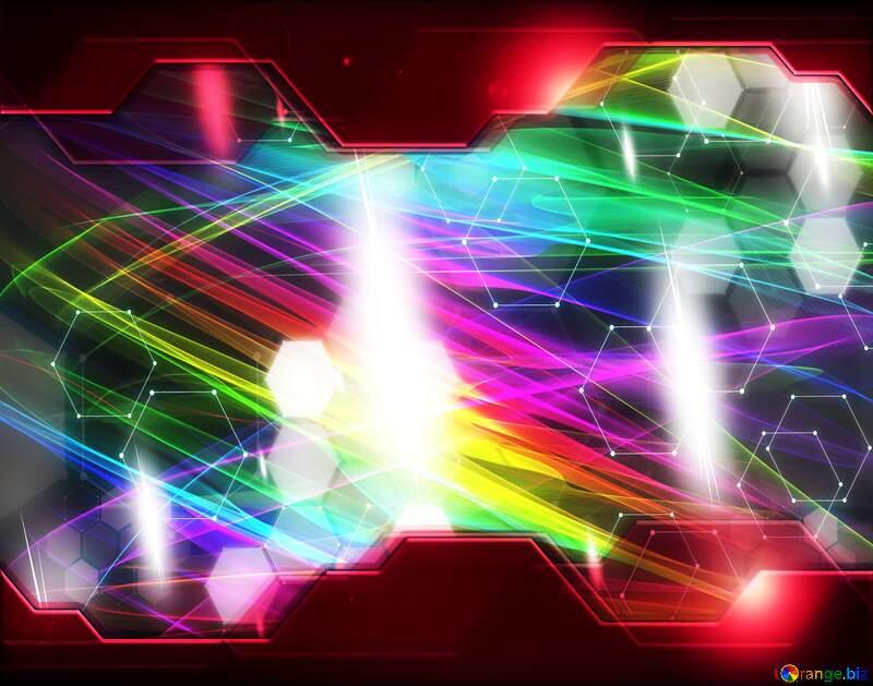 hi tech  fractal  Background №40614