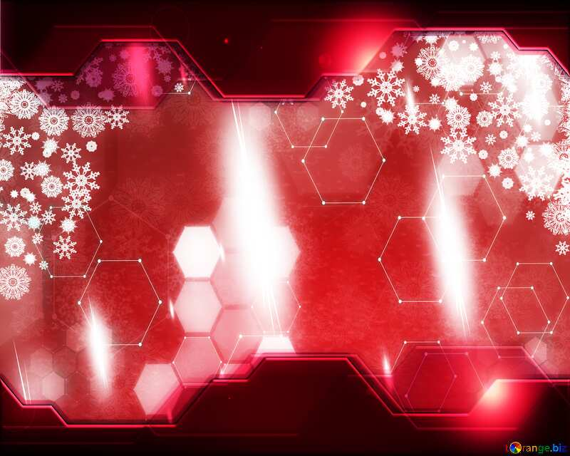 Red Christmas Technology business concept Elements background №40659
