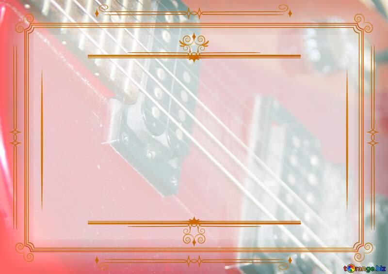 Guitar Vintage frame retro №8656