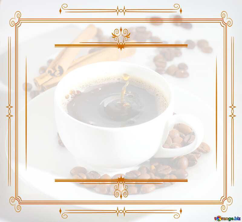 Cup of coffee Vintage frame retro clip art №30851