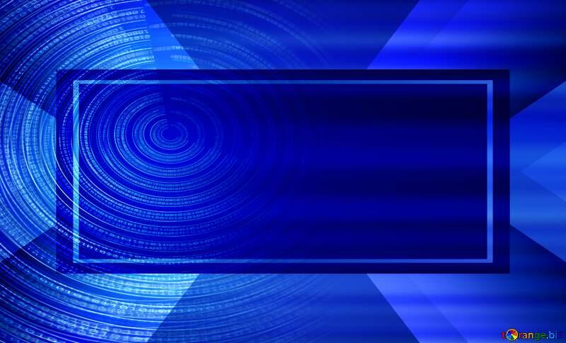 Digital Binary data. Futuristic infographic background blur side №49672