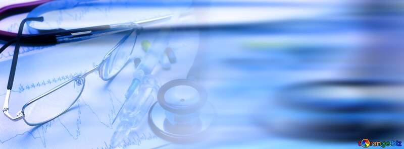 Medical education blur left side blue background №19850