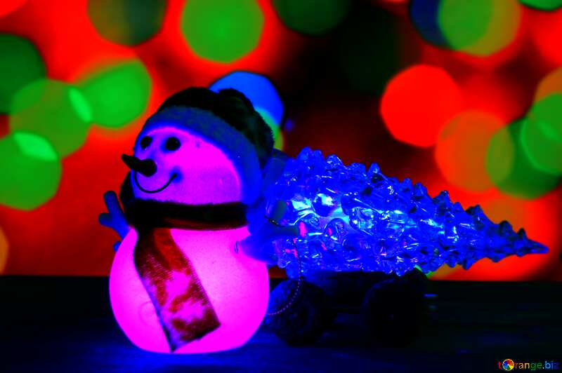 Christmas snowman dark vivid colors №48110