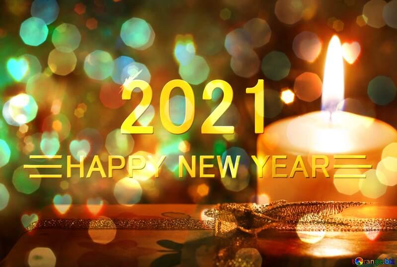 Celebration candlelight Background Winter Holiday Happy New Year 2021 №6619