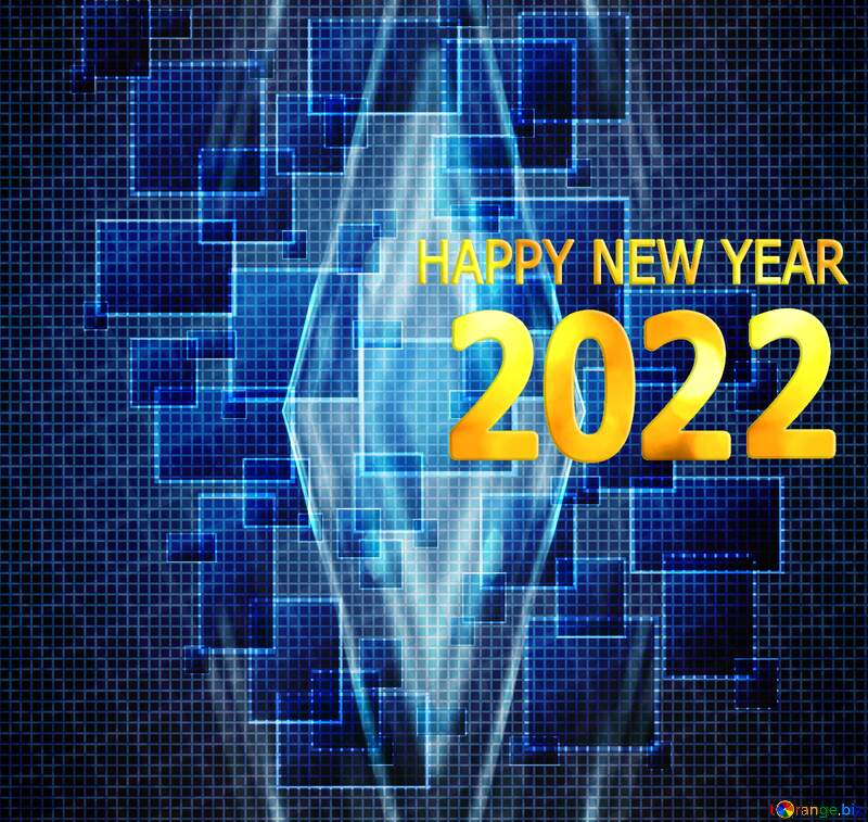 Technology abstract happy new year 2021 №49678