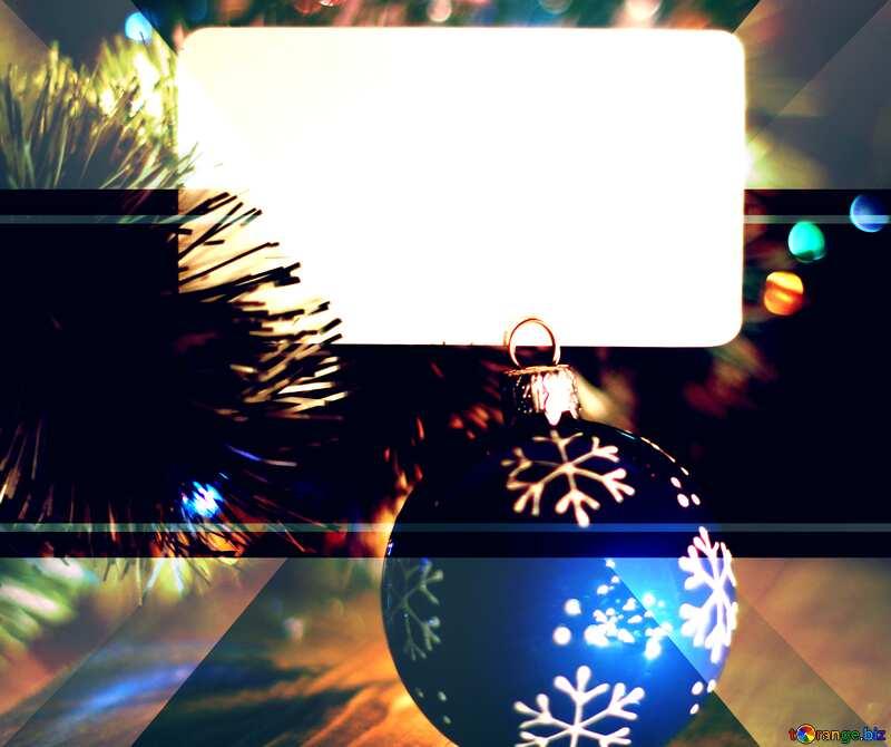 illustration template invitation frame christmas №37840