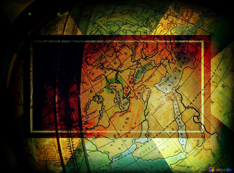 Geography business frame banner layout design №25798