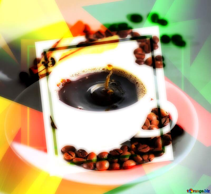Cup of coffee creative abstract geometrical template №30851