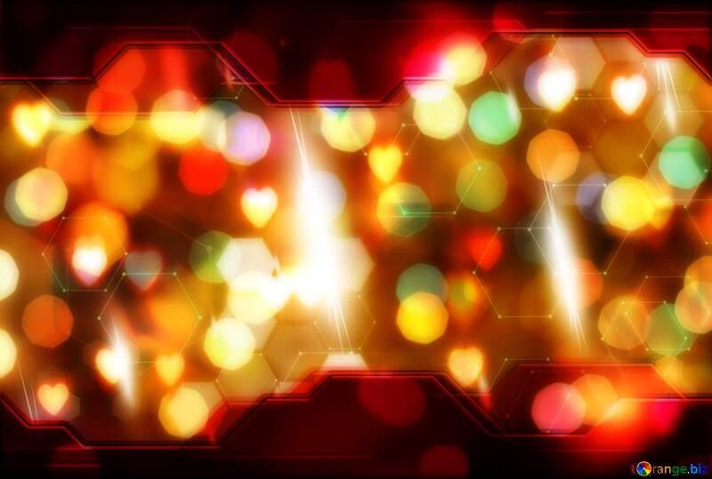 Bright  color  background. Hi-tech Elements bokeh №6676