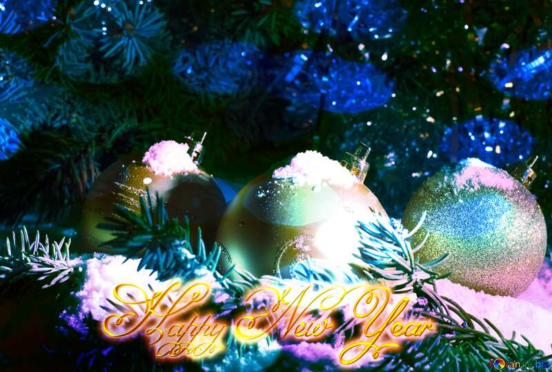Christmas card Happy New Year №15370